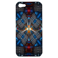 Fancy Fractal Pattern Background Accented With Pretty Colors Apple Iphone 5 Hardshell Case by Nexatart