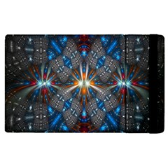 Fancy Fractal Pattern Background Accented With Pretty Colors Apple Ipad 2 Flip Case