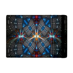 Fancy Fractal Pattern Background Accented With Pretty Colors Apple Ipad Mini Flip Case by Nexatart