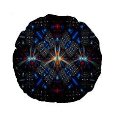 Fancy Fractal Pattern Background Accented With Pretty Colors Standard 15  Premium Round Cushions by Nexatart