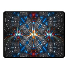 Fancy Fractal Pattern Background Accented With Pretty Colors Double Sided Fleece Blanket (small)