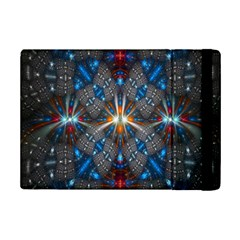 Fancy Fractal Pattern Background Accented With Pretty Colors Ipad Mini 2 Flip Cases