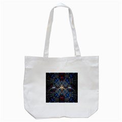 Fancy Fractal Pattern Background Accented With Pretty Colors Tote Bag (white) by Nexatart
