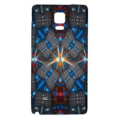 Fancy Fractal Pattern Background Accented With Pretty Colors Galaxy Note 4 Back Case by Nexatart