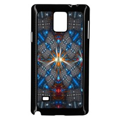 Fancy Fractal Pattern Background Accented With Pretty Colors Samsung Galaxy Note 4 Case (black) by Nexatart