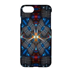 Fancy Fractal Pattern Background Accented With Pretty Colors Apple Iphone 7 Hardshell Case by Nexatart