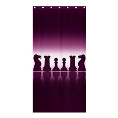 Chess Pieces Shower Curtain 36  X 72  (stall)  by Valentinaart