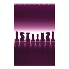 Chess Pieces Shower Curtain 48  X 72  (small)  by Valentinaart