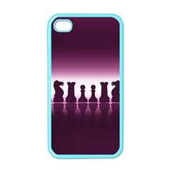 Chess Pieces Apple Iphone 4 Case (color) by Valentinaart