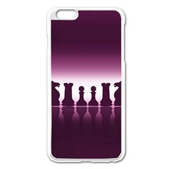 Chess Pieces Apple Iphone 6 Plus/6s Plus Enamel White Case by Valentinaart
