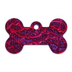 Plastic Mattress Background Dog Tag Bone (two Sides)