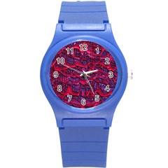 Plastic Mattress Background Round Plastic Sport Watch (s)