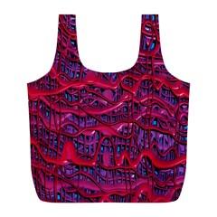 Plastic Mattress Background Full Print Recycle Bags (l)