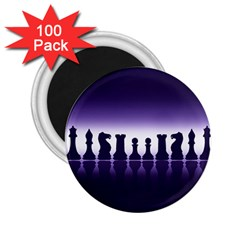 Chess Pieces 2 25  Magnets (100 Pack)  by Valentinaart