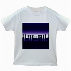 Chess Pieces Kids White T Shirts by Valentinaart