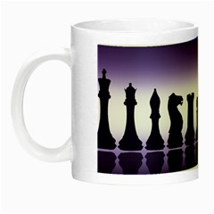 Chess Pieces Night Luminous Mugs by Valentinaart