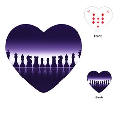 Chess Pieces Playing Cards (heart)  by Valentinaart