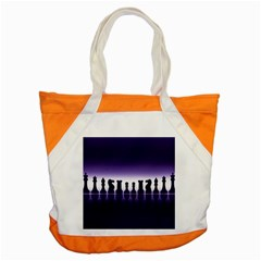 Chess Pieces Accent Tote Bag by Valentinaart