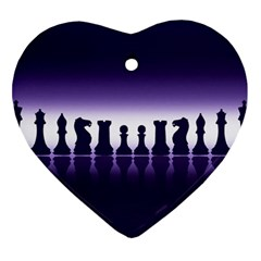 Chess Pieces Heart Ornament (two Sides) by Valentinaart