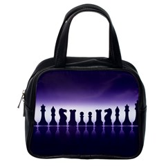 Chess Pieces Classic Handbags (one Side) by Valentinaart