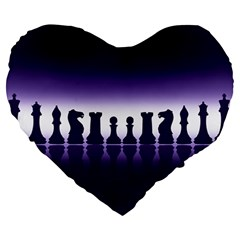 Chess Pieces Large 19  Premium Heart Shape Cushions by Valentinaart