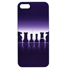 Chess Pieces Apple Iphone 5 Hardshell Case With Stand by Valentinaart