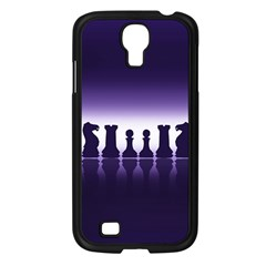 Chess Pieces Samsung Galaxy S4 I9500/ I9505 Case (black) by Valentinaart