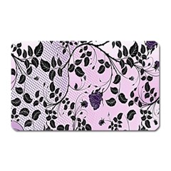Floral Pattern Background Magnet (rectangular) by Nexatart