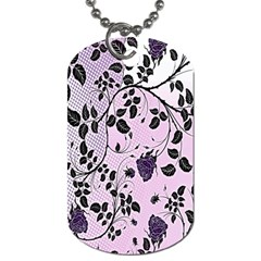 Floral Pattern Background Dog Tag (one Side)