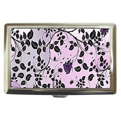 Floral Pattern Background Cigarette Money Cases