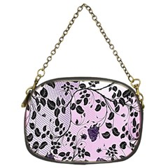 Floral Pattern Background Chain Purses (two Sides)  by Nexatart