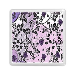 Floral Pattern Background Memory Card Reader (square)  by Nexatart