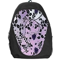 Floral Pattern Background Backpack Bag