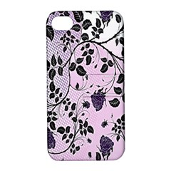 Floral Pattern Background Apple Iphone 4/4s Hardshell Case With Stand by Nexatart