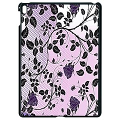 Floral Pattern Background Apple Ipad Pro 9 7   Black Seamless Case