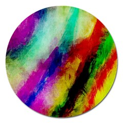 Colorful Abstract Paint Splats Background Magnet 5  (round) by Nexatart