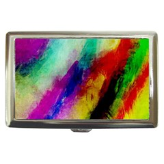 Colorful Abstract Paint Splats Background Cigarette Money Cases