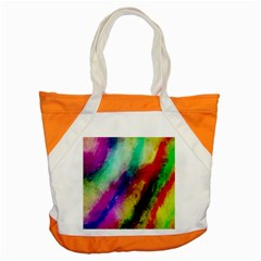 Colorful Abstract Paint Splats Background Accent Tote Bag by Nexatart