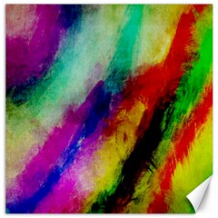 Colorful Abstract Paint Splats Background Canvas 12  X 12   by Nexatart