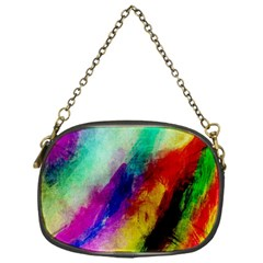Colorful Abstract Paint Splats Background Chain Purses (one Side)  by Nexatart