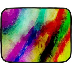 Colorful Abstract Paint Splats Background Double Sided Fleece Blanket (mini)  by Nexatart