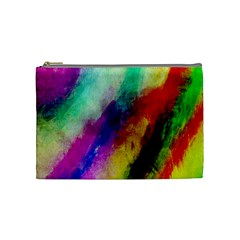 Colorful Abstract Paint Splats Background Cosmetic Bag (medium)