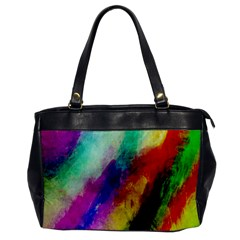 Colorful Abstract Paint Splats Background Office Handbags by Nexatart