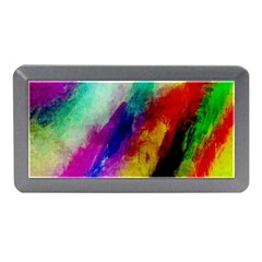 Colorful Abstract Paint Splats Background Memory Card Reader (mini)