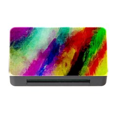 Colorful Abstract Paint Splats Background Memory Card Reader With Cf by Nexatart