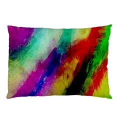 Colorful Abstract Paint Splats Background Pillow Case (two Sides) by Nexatart