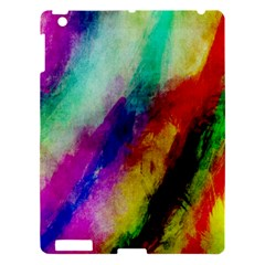Colorful Abstract Paint Splats Background Apple Ipad 3/4 Hardshell Case by Nexatart