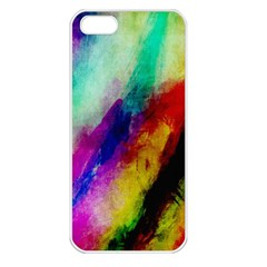 Colorful Abstract Paint Splats Background Apple Iphone 5 Seamless Case (white) by Nexatart