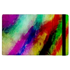 Colorful Abstract Paint Splats Background Apple Ipad 3/4 Flip Case by Nexatart