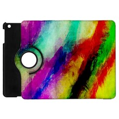 Colorful Abstract Paint Splats Background Apple Ipad Mini Flip 360 Case